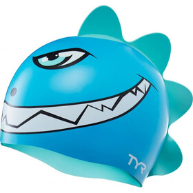 TYR Charactyrs Dino Destroyer Swimming Cap Kinder blue/green